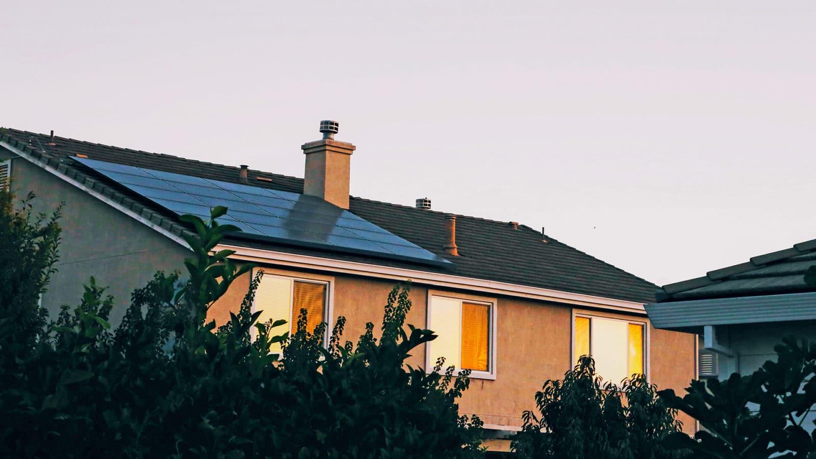 Solceller på et hus
