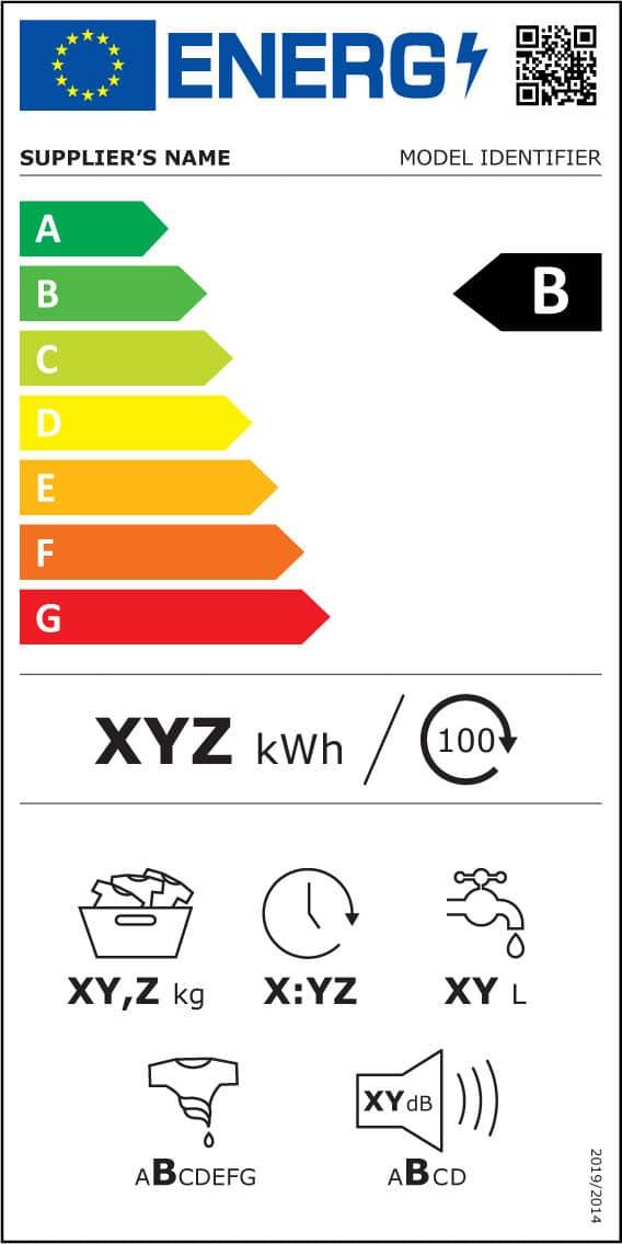 Nyt energimærkelabel til vaskemaskine